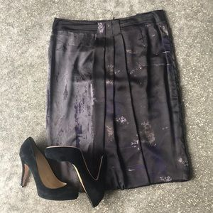 MaxMara Silk Printed Skirt